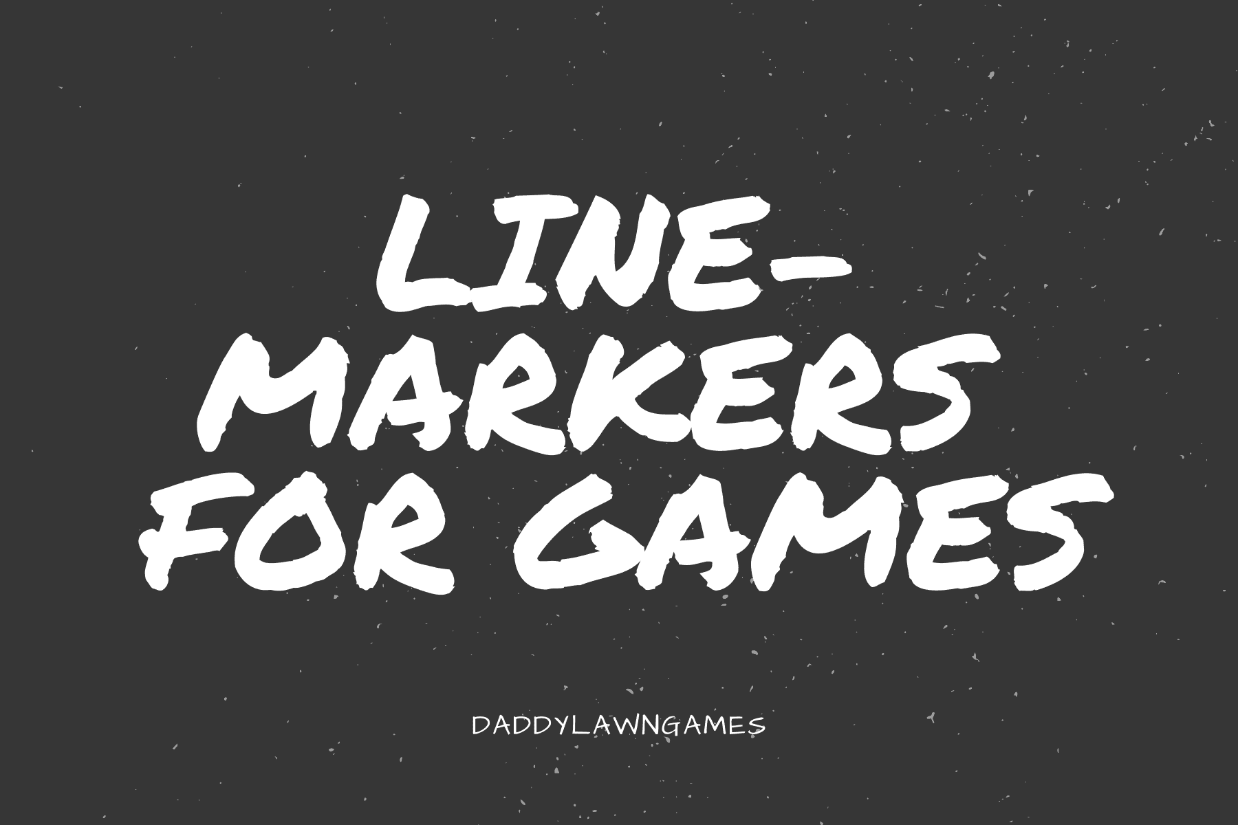 line-markers  for games outside