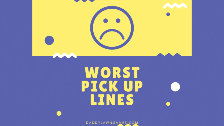 The worst pickup lines